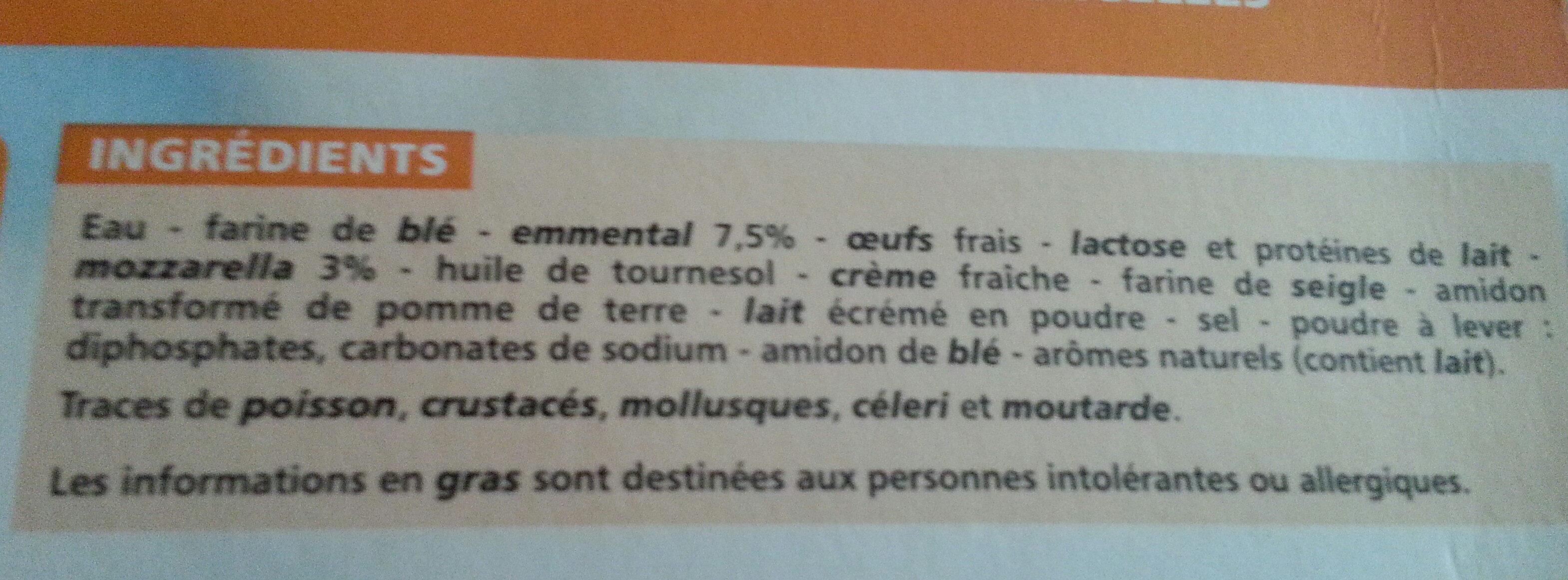 Crêpes Fromage surgelées - Ingrediënten - fr