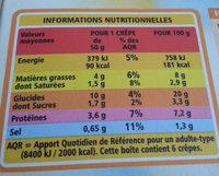 Crêpes Fromage surgelées - Voedingswaarden - fr