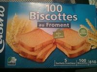Biscottes au froment 100 Tranches - Produit - fr