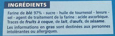 Biscottes au froment 100 Tranches - Ingrédients - fr