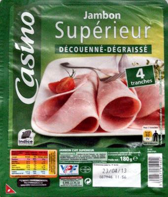 Jambon Supérieur Découenné - Dégraissé - Produit