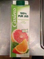 100% Pur Jus Pamplemousse rose Orange - Product - fr