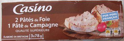 2 Pâtés de foie - 1 Pâté de campagne - Produit