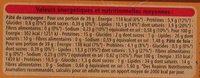 2 Pâtés de foie - 1 Pâté de campagne - Informations nutritionnelles - fr