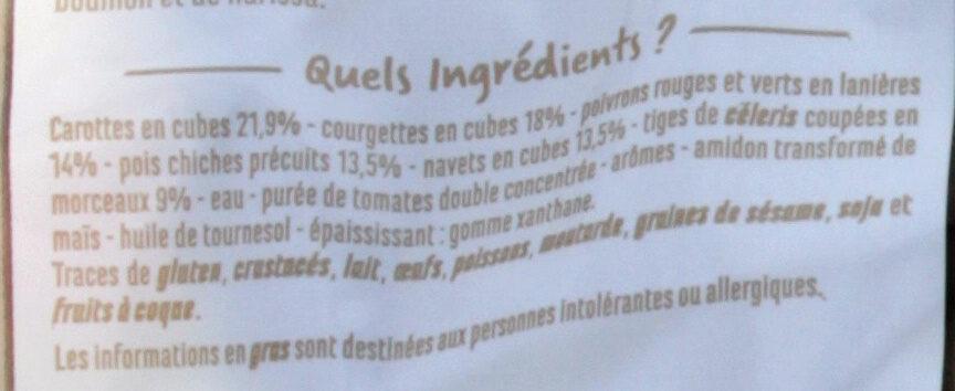 Légumes pour couscous - Prêt à cuisiner - Ingrédients - fr