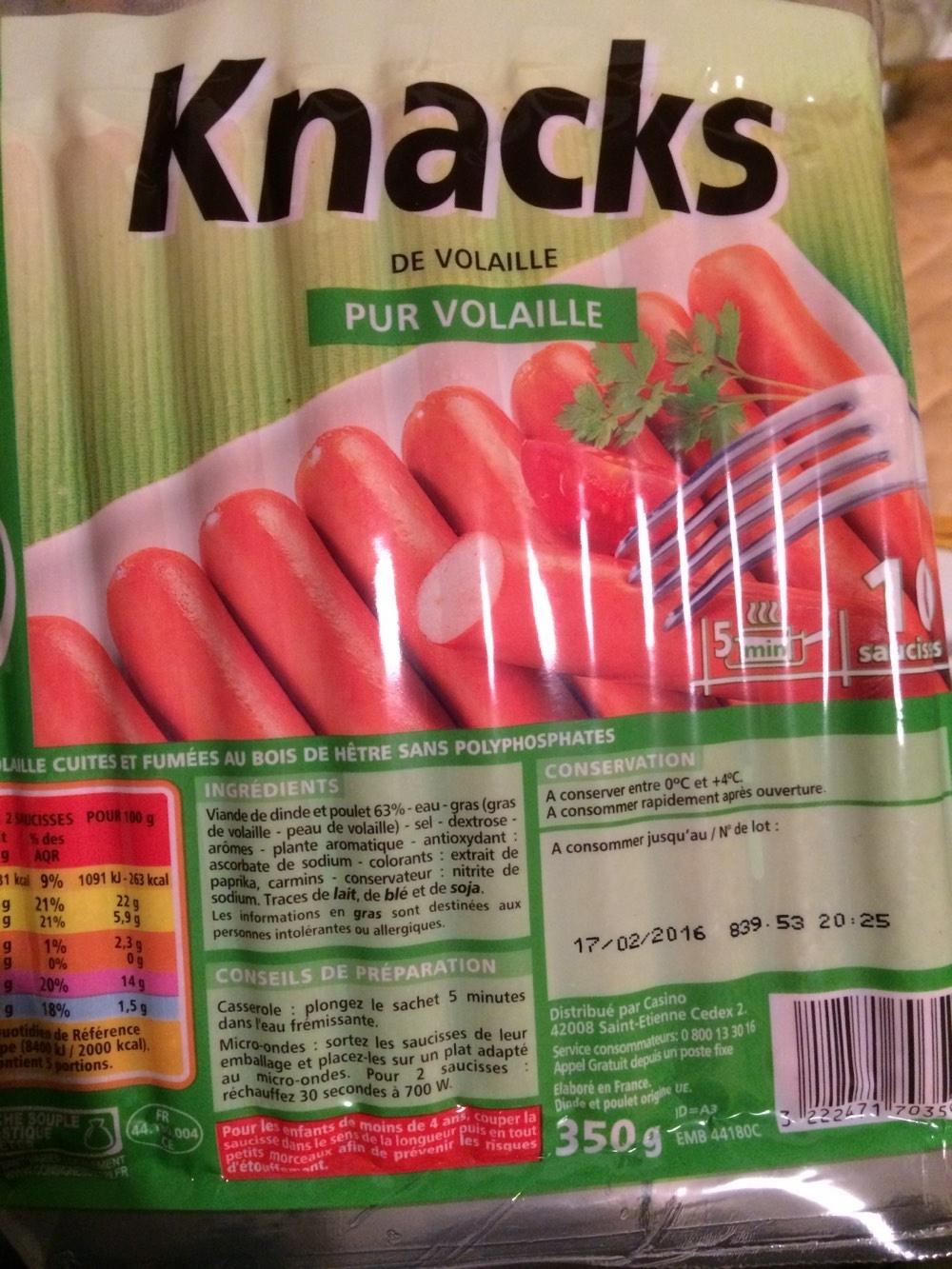 Knacks de Volaille - Product - fr