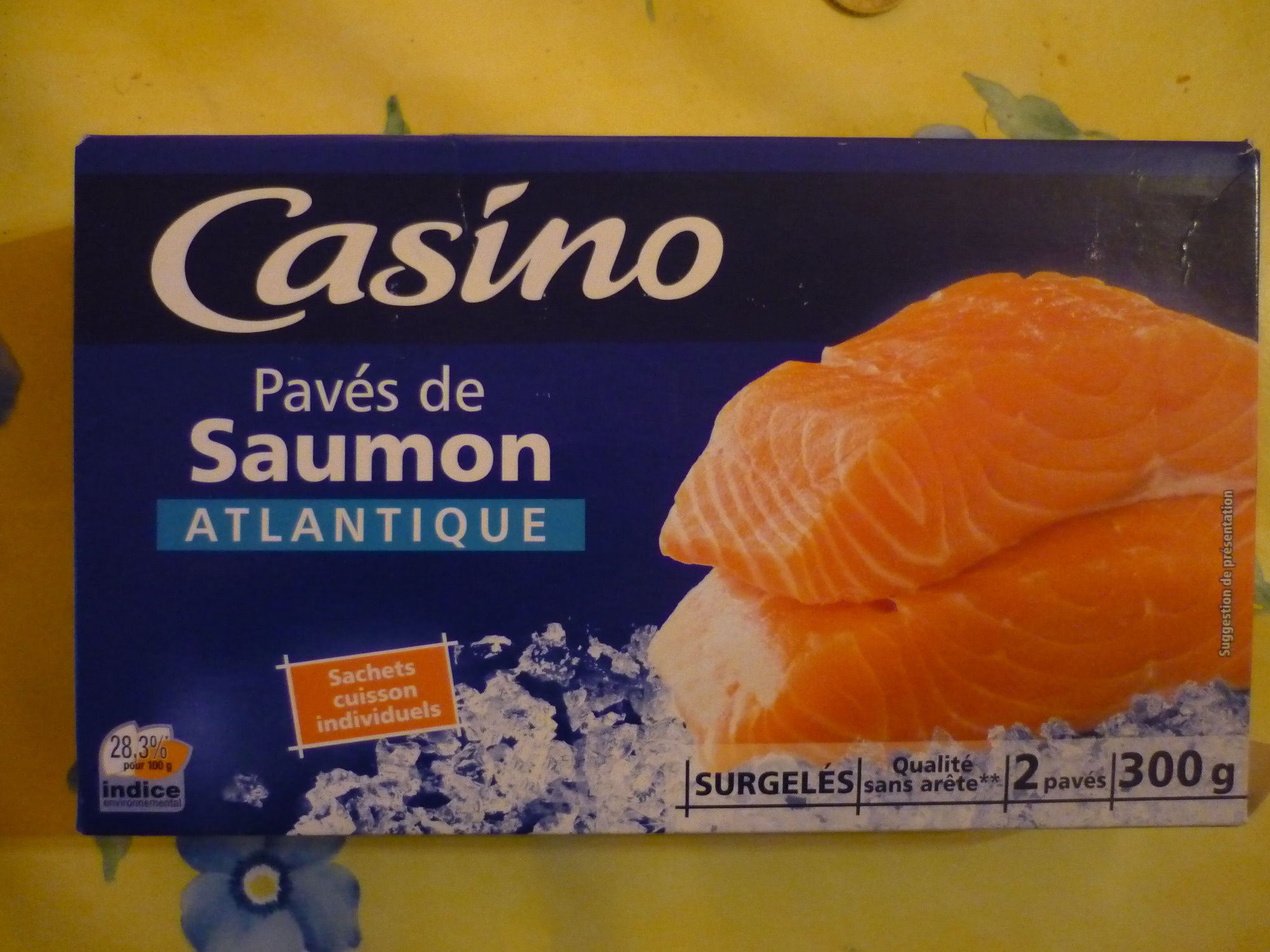 Pavés de saumon Atlantique surgelés - Product