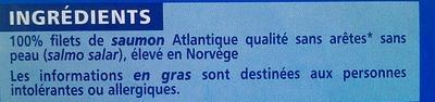 Pavés de saumon Atlantique surgelés - Ingrediënten