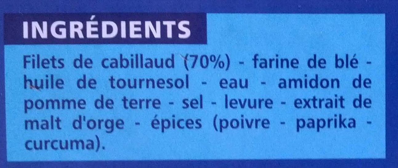 Cabillaud 4 portions panées - Ingredients