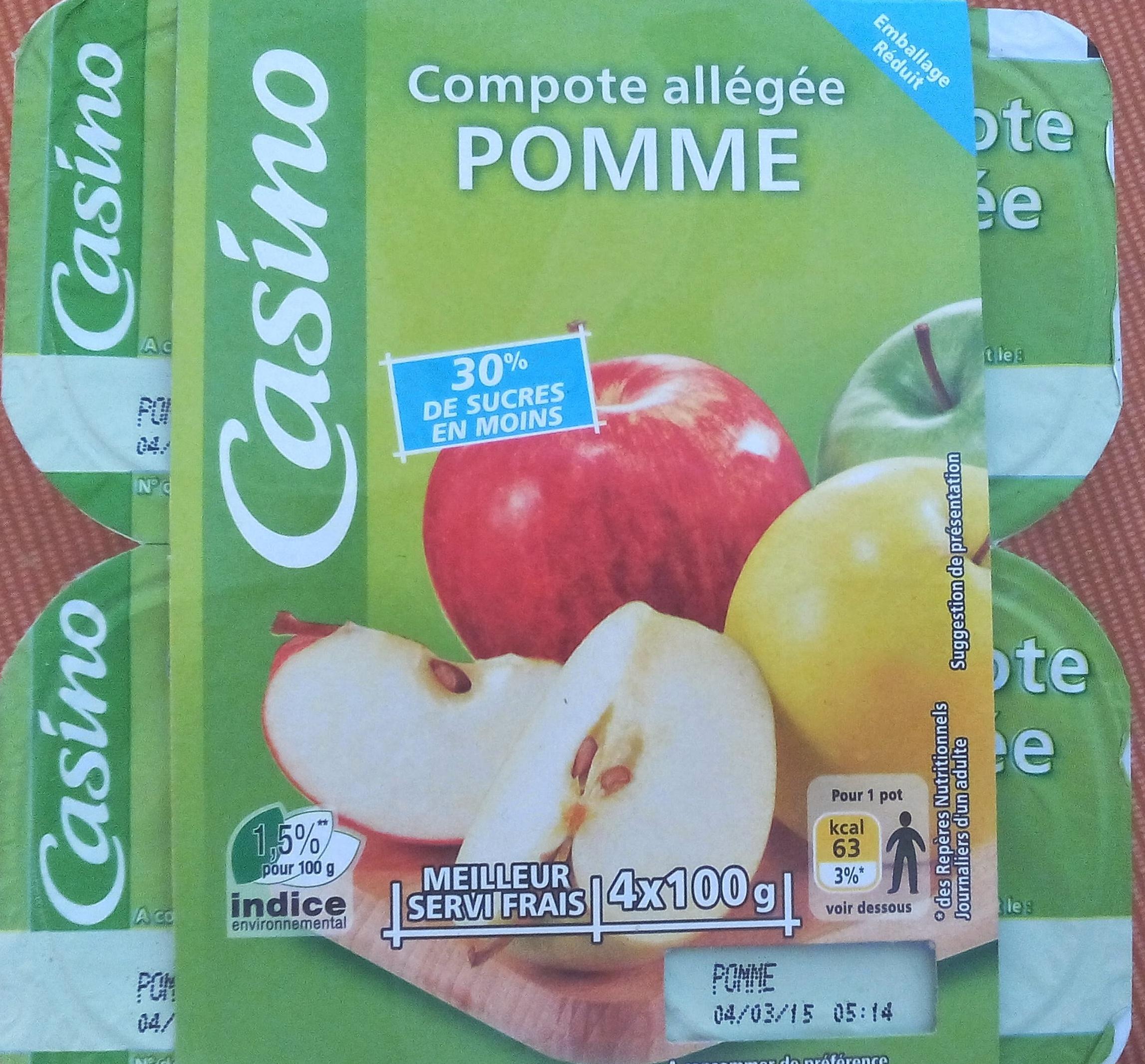 Compote Allégée Pommes - Produkt
