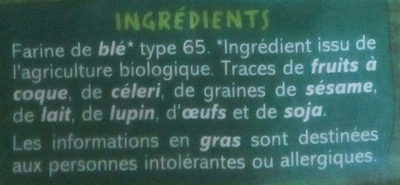 Farine de blé biologique - Ingrédients - fr