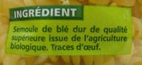 Torsades QS BIO - Ingrédients - fr