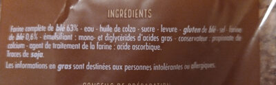 Spécial sandwich complet - Ingredients - fr