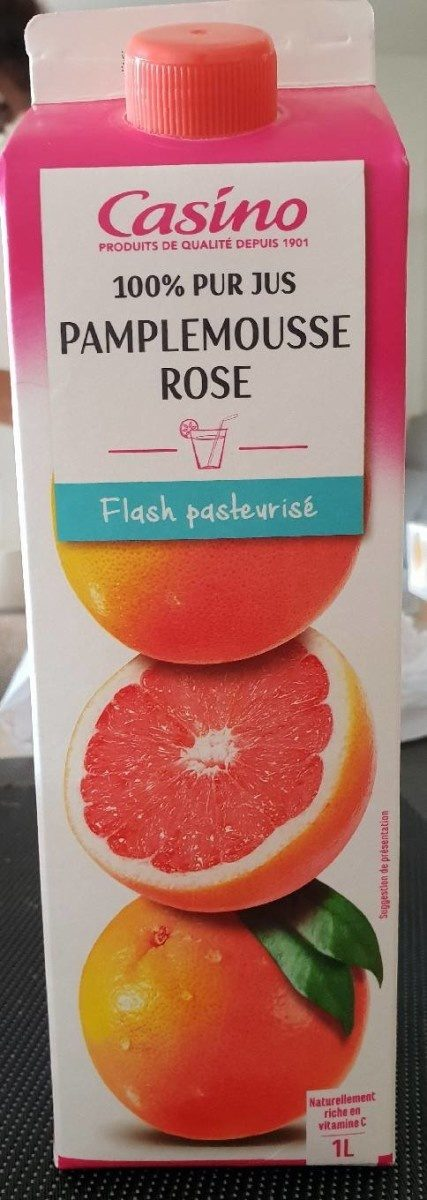 100% Pur Jus Pamplemousse rose Flash pasteurisé – Naturellement riche en vitamine C - Product