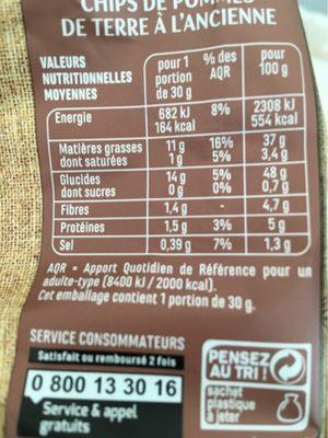 Chips à l'ancienne - Nutrition facts