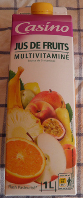 Jus Multivitaminé - Flash pasteurisé - Source de 5 vitamines - Produit - fr