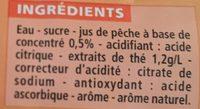 Thé glacé - Ingrédients - fr