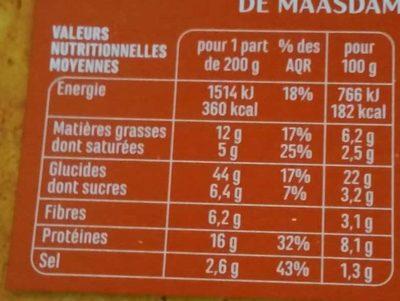 Pizza Royale cuite au Feu de Bois - Nutrition facts