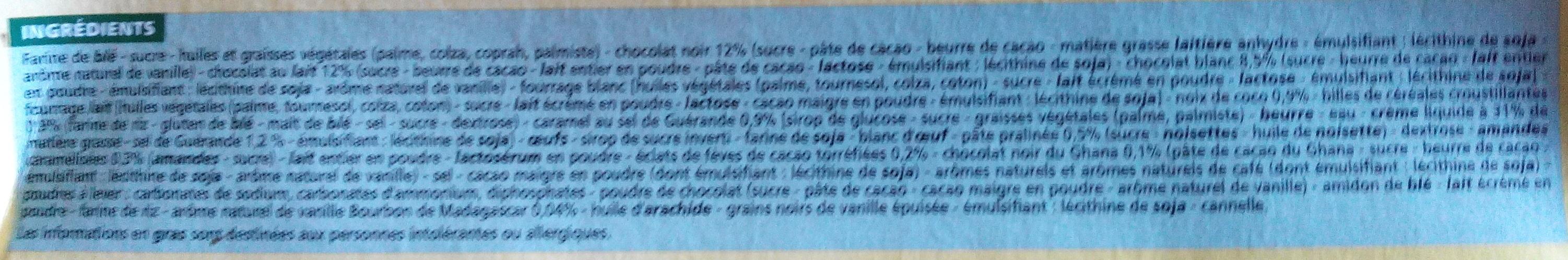 Petits fours pâtissiers - Ingrediënten