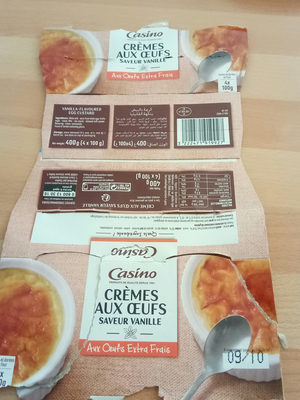 Crème aux œufs saveur vanille - Aux œufs extra-frais - Product