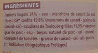 Cassoulet De Castelnaudary - Ingrédients - fr