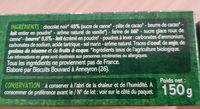 Petit Beurre avec Tablette de Chocolat Noir - Ingrédients - fr