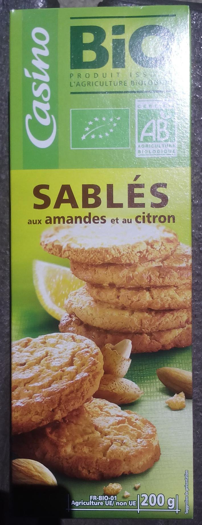 Sablés aux amandes et au citron - Product - fr