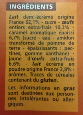 crème caramel - Product