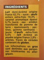crème caramel - Ingrediënten