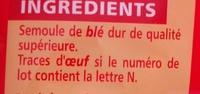 Farfalles - pâtes de qualité supérieure - Ingredients - fr