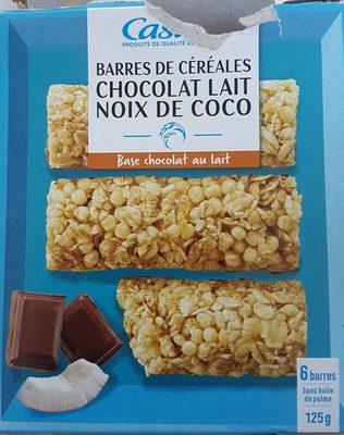 Barres céréales chocolat au lait noix de coco - Product