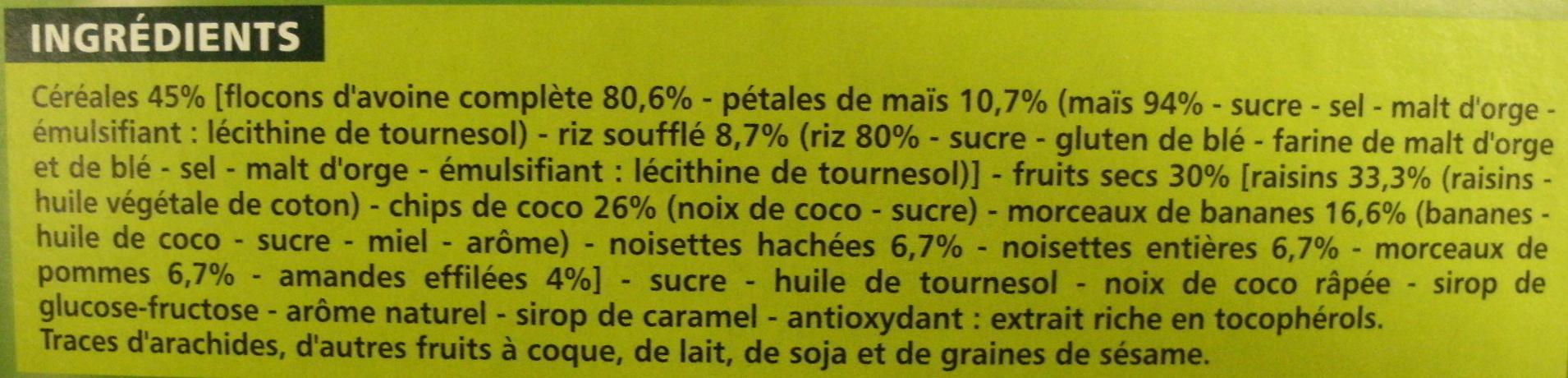 Casino croustillant aux céréales et aux fruits - Ingrediënten - fr