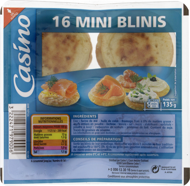 16 Mini-Blinis - Ingrediënten