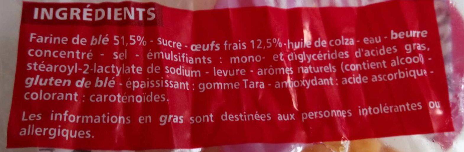 Brioche tranchée aux oeufs frais - Ingrédients - fr