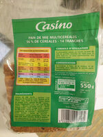 Spécial sandwich multicéréales - Informations nutritionnelles - fr
