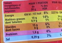 Chips nature - Voedigswaarden