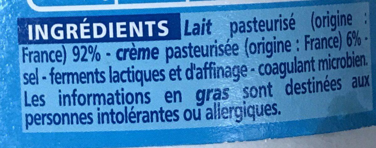 Le Crémeux - Fromage au coeur tendre et onctueux - Ingredients - fr