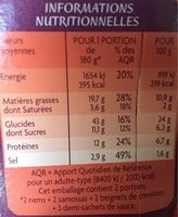 Assortiment asiatique avec sauces - Nutrition facts - fr