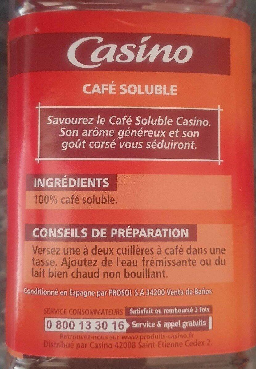 Café soluble - Voedingswaarden - fr
