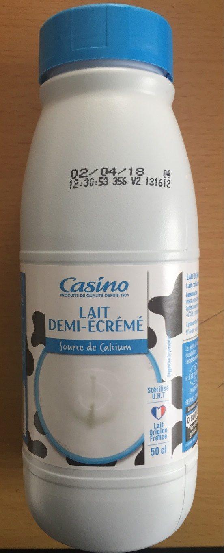 Lait demi-écrémé CASINO 50CL - Product