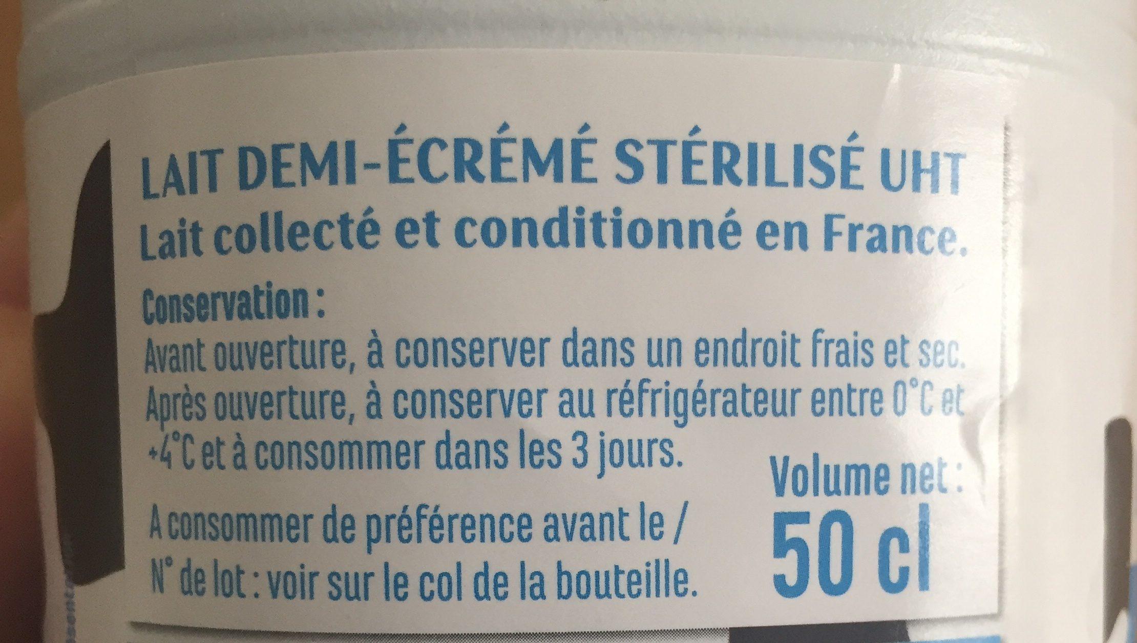 Lait demi-écrémé CASINO 50CL - Ingrediënten