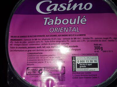 Taboulé oriental - Ingrediënten