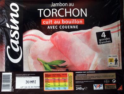 Jambon au Torchon cuit au bouillon Avec Couenne - Produit - fr
