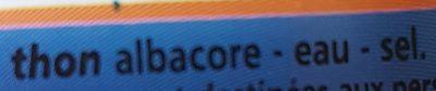 Thon albacore au naturel - Ingredients - fr