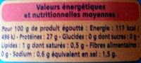 Thon albacore au naturel - Nutrition facts - fr
