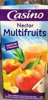 Nectar multifruits à base de jus et de purées de fruits concentrés. Teneur en Fruits : 50 % minimum. Source de 5 vitamines - Produit - fr