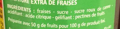 Confiture extra fraises - Ingredienti - fr