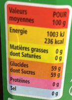 Confiture extra fraises - Informazioni nutrizionali - fr