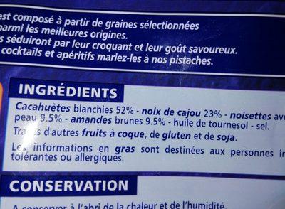 Cocktail salé Cacahuètes, noix de cajou, amandes, noisettes - Inhaltsstoffe