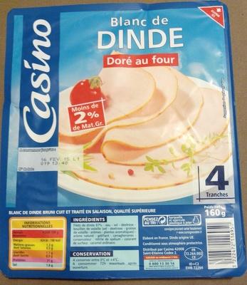 Blanc de Dinde Doré au four 4 Tranches - Produit - fr